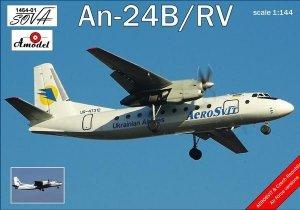 A-Model 01464-1 Antonov AN 24B/RV 1:144