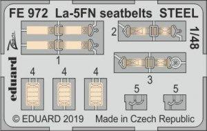 Eduard FE972 La-5FN seatbelts STEEL 1/48 ZVEZDA
