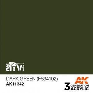 AK-Interactive AK 11342 Dark Green (FS34102) 17ml