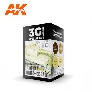 AK Interactive AK 11640 GERMAN DUNKELGELB MODULATION SET 4x17 ml