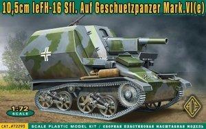 ACE 72293 10,5cm leFH-16 Sfl.Auf Geschuetzpanzer Mark.VI e (1:72)
