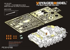 Voyager Model PE351078B WWII German Pz.KPfw.III Ausf.M basic for Takom 1/35