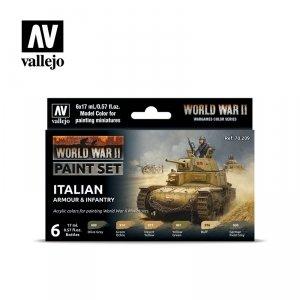Vallejo 70209 WWII Italian Armour & Infantry 6x17ml