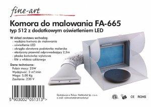Fine Art FA-665 Wyciąg do malowania typ 512 z dodatkowym oświetleniem LED