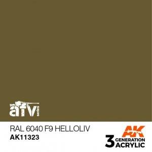 AK-Interactive AK 11323 RAL 6040 F9 Helloliv 17ml