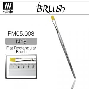 Vallejo PM05008 Brush Flat Rectangular Brush N8