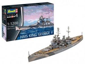 Revell 65161 HMS King George V Zestaw modelarski z akcesoriami (1:1200)
