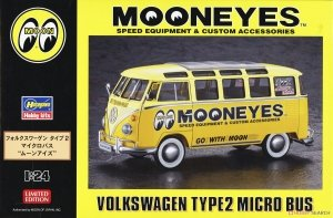 Hasegawa 20477 Mooneyes Speed Equipment & Custom Accessories Volkswagen Type2 Micro Bus 1/24