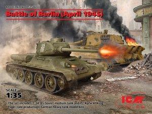 ICM DS3506 Battle of Berlin (April 1945) (T-34-85, King Tiger) 1/35