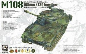 AFV Club 35108 U.S. Self-Propelled Howitze M108 105mm/L30 howitze 1/35
