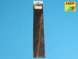 Aber BR05 Brass round rods 0,5mm length 250mm x 8 pcs