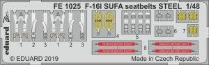 Eduard FE1025 F-16I SUFA seatbelts STEEL 1/48 HASEGAWA