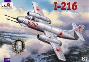 A-Model 72237 Soviet jet fighter Alexeyev I-216 1/72