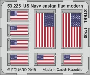 Eduard 53225 US Navy ensign flag modern STEEL 1/700
