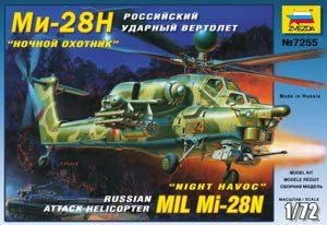Zvezda 7255 Mil Mi-28N Night Havoc Modern Russian Attack Helicopter (1:72)