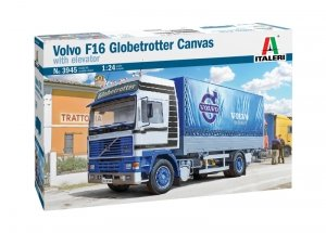 Italeri 3945 VOLVO F16 Globetrotter Canvas Truck with elevator 1/24