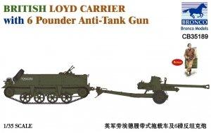 Bronco CB35189 British Loyd Carrier with 6 Pounder Anti-Tank Gun (1:35)