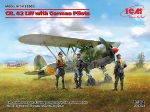 ICM 32022 CR.42 with German Pilots 1/32