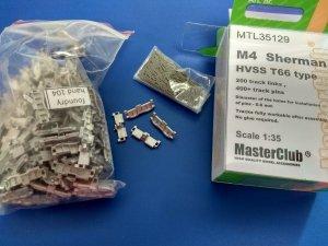 MasterClub MTL-35129 Tracks for M4 Sherman Track T66 1/35