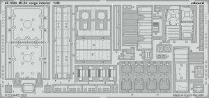 Eduard 481020 Mi-24 cargo interior for ZVEZDA 1/48