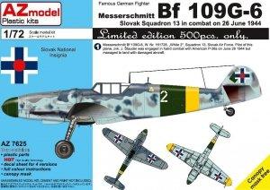 AZ Model AZ7625 Bf 109G-6 Slovak 13 Squadron 1/72