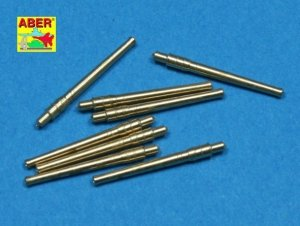 Aber 1:700L-28 Set of 8 pcs 356mm (14in) L45 Vickers type 41 barrels for Kongo, Haruna, Hiei, Kirishima 1/700