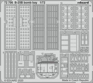 Eduard 72706 B-25B bomb bay 1/72 AIRFIX