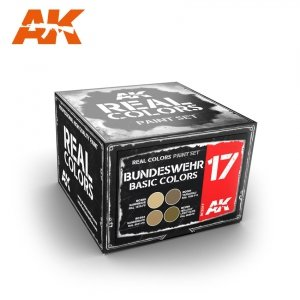 AK Interactive RCS017 BUNDESWEHR BASIC DESERT COLORS (4x10ml)