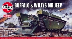 Airfix 02302V Buffalo & Willys MB Jeep 1/76