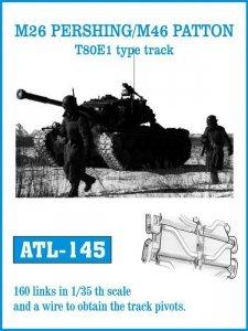 Friulmodel 1:35 ATL-145 M26 PERSHING / M46 PATTON T80E1 type track
