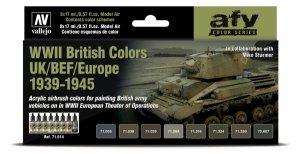 Vallejo 71614 WWII British Colors UK/BEF/Europe 1939-1945 8x17ml