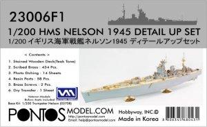 Pontos 23006F1 HMS NELSON 1945 DETAIL UP SET