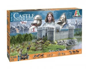 Italeri 6185 Castle under Siege - 100 years War 1337/1453 Battle Set 1/72