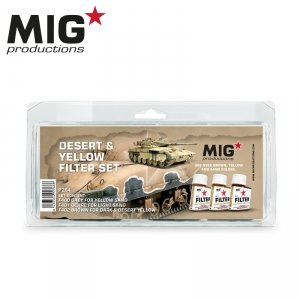 MIG Productions P264 Desert & Yellow filter set (3x35ml)