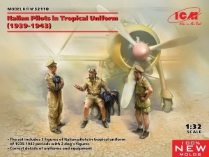 ICM 32110 Italian Pilots in tropical uniforms 1/32
