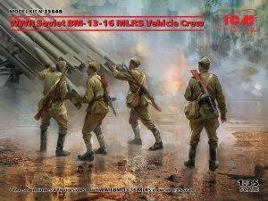 ICM 35648 WWII Soviet BM-13-16 MLRS Vehicle Crew 1/35