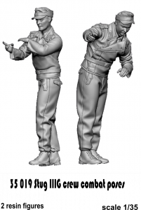 Glowel Miniatures 35019 Stug IIIG crew combat poses 1/35