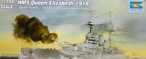 Trumpeter 05797 British battleship HMS Queen Elizabeth (1918) 1/700