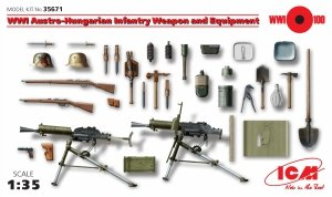 ICM 35671 WWI Austro-Hungarian Infantry Weapon and Equipment 1/35