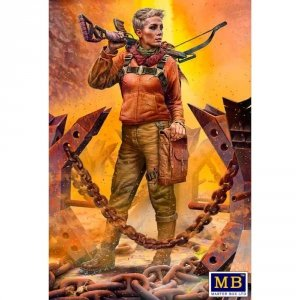 Master Box 35214 Pоst-apocalyptic fiction. Desert Battle Series. Skull Clan - Long distance raid. Kit No.2  A new leader. Hanna 1/35