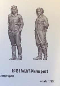 Glowel Miniatures 35031 Polish T-34 crew part 2 1/35