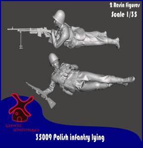 Glowel Miniatures 35009 Polish infantry lying 1/35