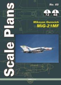 Stratus 49074 Scale Plans No. 65 Mikoyan Gurevich MiG-21MF