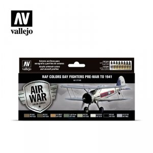Vallejo 71149 RAF Day Fighters pre-war to 1941 8 x 17 ml