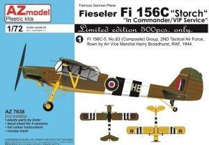 AZ Model AZ7638 Fieseler Fi-156C Storch Commander/VIP Service 1/72