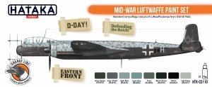 Hataka Hobby HTK-CS110 Mid-War Luftwaffe Paint Set  (8x17ml)