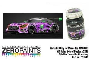 Zero Paints ZP-1645 Mercedes AMG GT3 #71 Rolex 24h of Daytona 2019 Metallic Grey 30ml