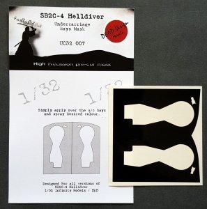 Infinity Models UC32007 SB2C-4 Helldiver u/c bays mask 1/32