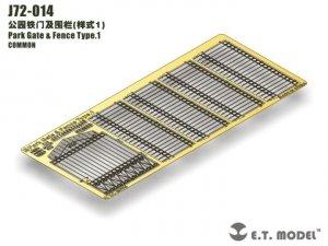 E.T. Model J72-014 Park Gate & Fence Type.1 1/72