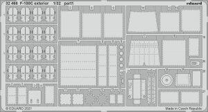 Eduard 32468 F-100C exterior TRUMPETER 1/32